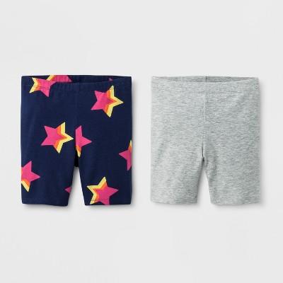 Toddler Girls' Trouser Shorts - Cat & Jack™ Blue Gray
