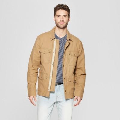 Men's Casual Fit Shirt Jacket - Goodfellow & Co™ Khaki