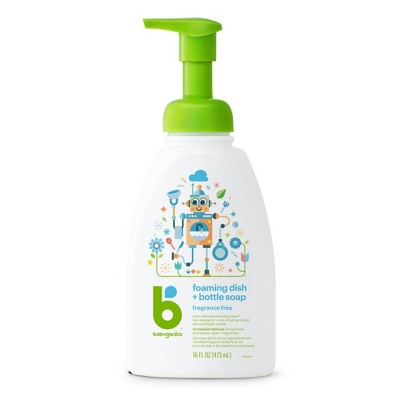 babyganics foaming dish bottle
