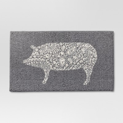 grey kitchen rugs outdoor dimensions rug pig threshold target