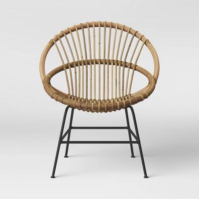 barbet rattan papasan chair opalhouse