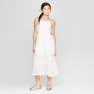 Girls' Eyelet Maxi Dress - Cat & Jack™ White