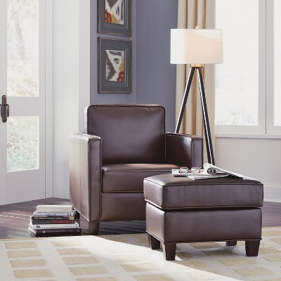 chairs and ottomans upholstered office chair buy bradley club ottoman dark brown home styles