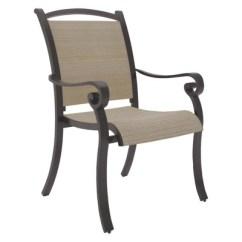 Sling Chair Outdoor Folding Soccer Chairs Bass Lake With 4 Cushion Beige Brown By Ashley