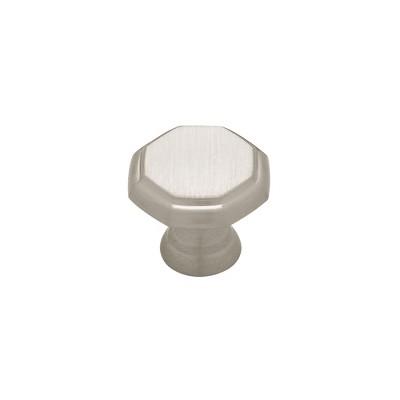 """1-1/8"""" Octagon Knob 2pk Satin Nickel - Threshold™"""
