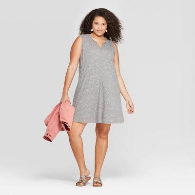 Women's Plus Size Sleeveless U-Neck Tank Dress - Universal Thread™