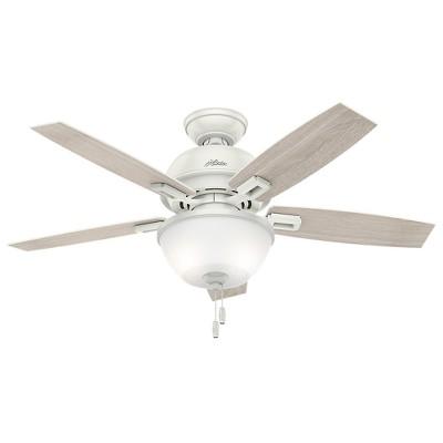 "44"" Donegan Bowl Light Fresh White Ceiling Fan with Light - Hunter Fan"
