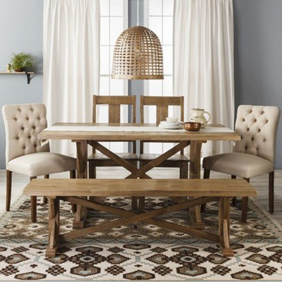 target table and chairs toyo revolving chair farm collection wood
