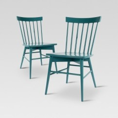 Target Blue Chair Best Outdoor Rocking Chairs 2018 Windsor Dining Set Of 2 Threshold