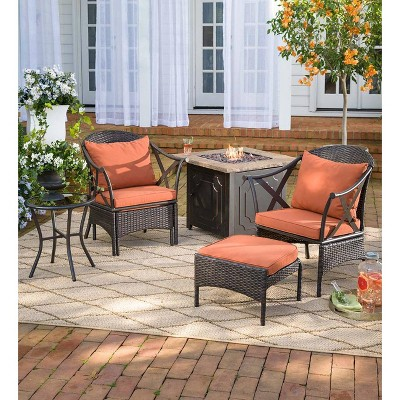 wicker patio chair set of 2 fingal swivel 5 piece with chairs ottomans target about this item