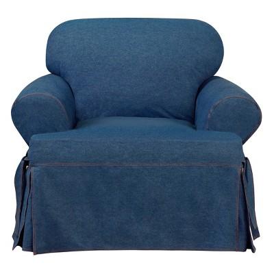Authentic Denim T-Chair Slipcover Indigo - Sure Fit