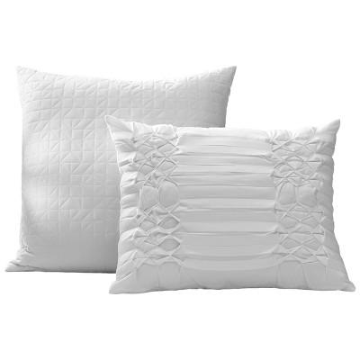 white triple diamond throw pillow set city scene