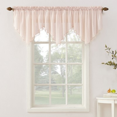 "No. 918 Erica Crushed Sheer Voile Ascot Valance 51""x24"""