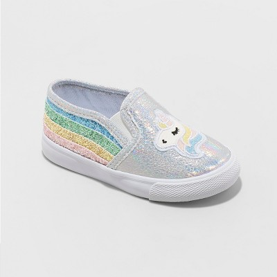 Toddler Girls' Kameel Unicorn Sneakers - Cat & Jack™ White