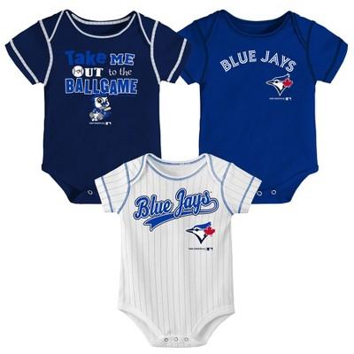 MLB Toronto Blue Jays Boys' 3pk Bodysuit Set
