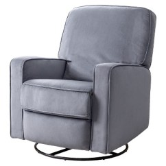 Glider Recliner Chair The Leaf Baby Bella Fabric Swivel Gray Abbyson Living