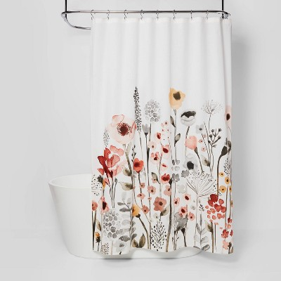 floral shower curtain target