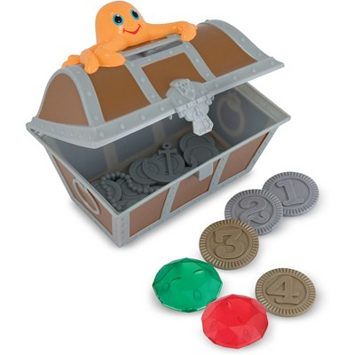 Melissa & Doug Sunny Patch Undersea Treasure Hunt Pool Game with Floating Chest & 6 Treasure Piece Set