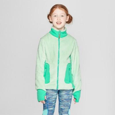 Girls' Long Sleeve Fleece Jacket - C9 Champion® Green