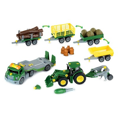 Theo Klein John Deere Mega Take A Part Set - Transporter, Tractor & Much More