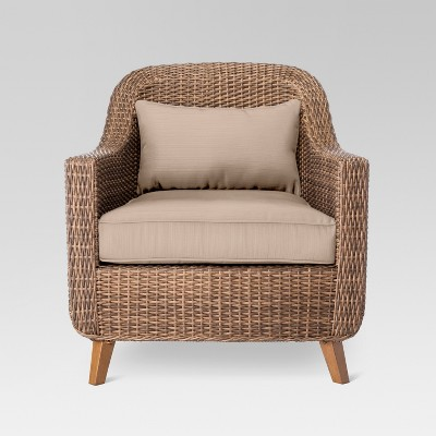 comfortable wicker chairs ergonimic office mayhew all weather patio club chair threshold target
