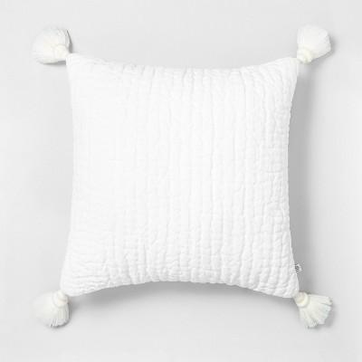 18 x 18 tassel throw pillow sour cream hearth hand with magnolia
