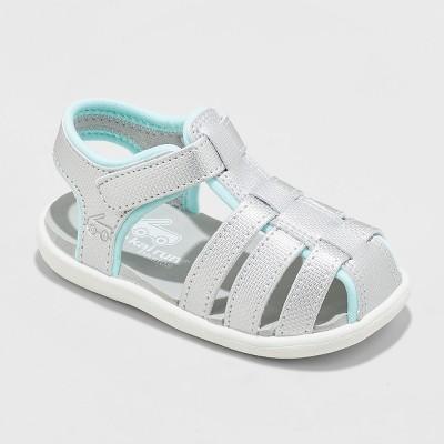 Toddler Girls' See Kai Run Basics Posey Fisherman Sandals - Silver