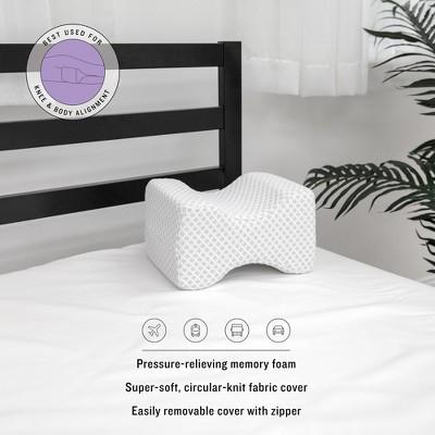 sensorpedic conforming memory foam knee support pillow