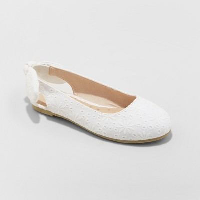 Girls' Freeda Slingback Ballet Flats - Cat & Jack™ White
