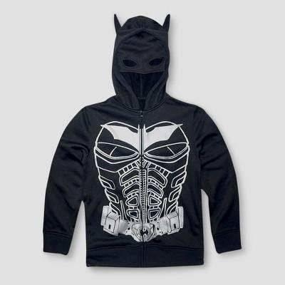 Boys' Batman Hooded Fleece Jacket - Black