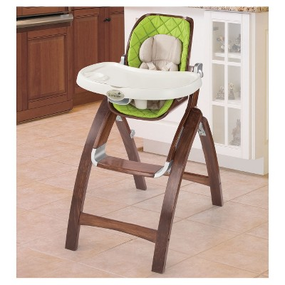 wooden high chairs for babies rio gear ultimate backpack chair with cooler summer infant bentwood baby time green target