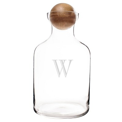 Cathy's Concepts 56oz Personalized Glass Decanter with Wood Stopper-A-Z