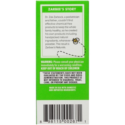 more also zarbee   naturals baby cough syrup mucus reducer liquid grape rh target