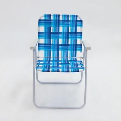 portable beach chair electric lift outdoor blue plaid evergreen target