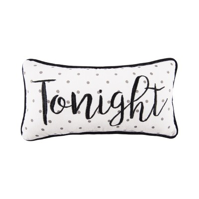 c f home tonight not tonight embroidered pillow