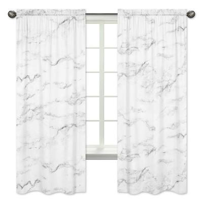 black white marble curtain panels sweet jojo designs