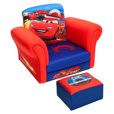 cars sofa chair leather reclining upholstered with ottoman disney pixar delta children
