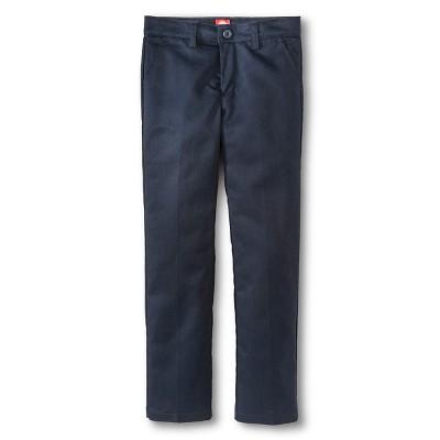 Dickies® Girls' Slim Fit Flat Front Pants