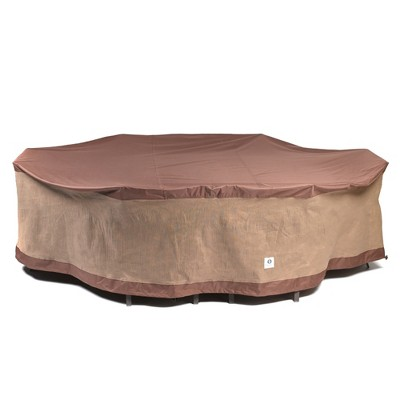 109 l ultimate rectangular oval patio table with chairs cover mochaccino classic accessories