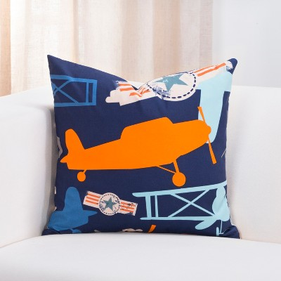 "26"" Take Flight Accent Throw Pillow With Sham Navy - Crayola"