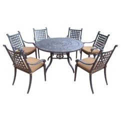 Aluminum Dining Chairs Target Antique Desk Uk Rosemont 7 Piece Furniture Set