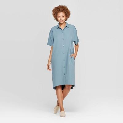 Women's Short Sleeve Collared Shirtdress - Prologue™