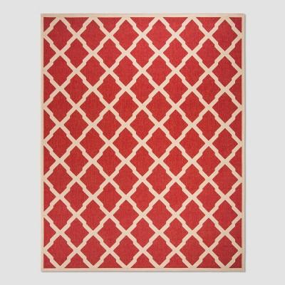8 6 x12 leonida outdoor rug red cream safavieh
