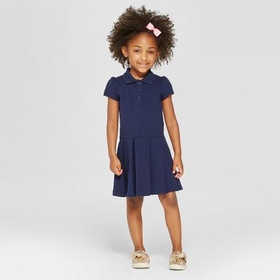 Toddler Girls' Uniform Tennis Uniform Shirt Dress - Cat & Jack™ Navy