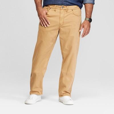 Men's Big & Tall Slim Straight Fit Twill Pants - Goodfellow & Co™ Khaki