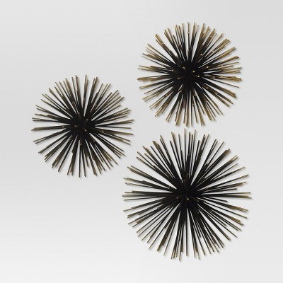 Sea Urchin Wall Dcor Gold Project 62 Target