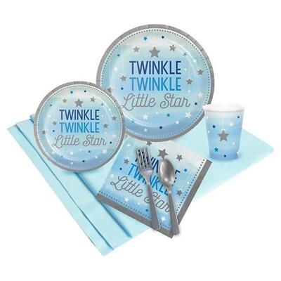 Twinkle Twinkle Little Star Blue Party Tableware Pack