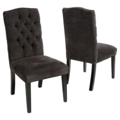 White Fabric Dining Chairs Wicker Armchair Uk Crown Off Set Of 2 Christopher A Green Circle With Checkmark In The Center