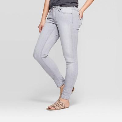 Women's Mid-Rise Skinny Jeans - Universal Thread™ Gray