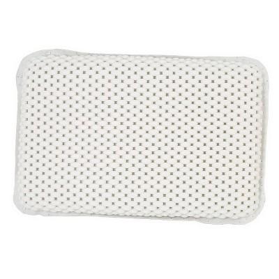 spa foam bath pillow white bath bliss